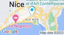 Plan Carte Piscine Saint François à Nice