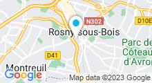 Plan Carte Centre aquanautique Camille Muffat - Piscine à Rosny-sous-Bois