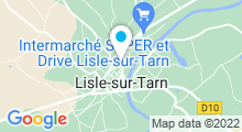 Plan Carte Piscine à Lisle sur Tarn