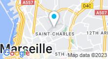 Plan Carte Piscine Saint Charles à Marseille