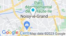 Plan Carte Centre aquatique - Piscine Les Nymphéas de Noisy-le-Grand