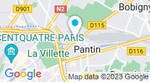 Plan Carte Piscine de Pantin