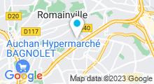 Plan Carte Piscine Jean Guimier à Romainville