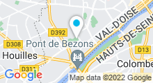 Plan Carte Piscine Jean Moulin à Bezons