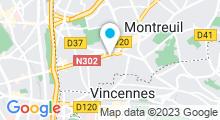 Plan Carte Stade nautique Maurice Thorez - Piscine à Montreuil