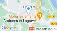 Plan Carte Piscine à Ambares et Lagrave