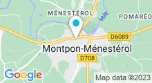 Plan Carte Piscine des Massias à Montpon Ménestérol