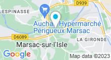 Plan Carte Piscine de Marsac-sur-l'Isle