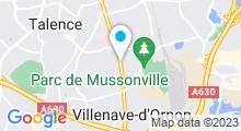Plan Carte Piscine olympique à Villenave d'Ornon