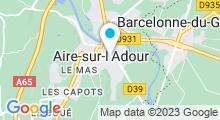 Plan Carte Piscine à Aire sur l'Adour