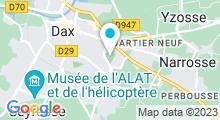 Plan Carte Piscine André Darrigade à Dax