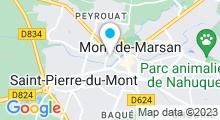 Plan Carte Piscine à Mont de Marsan
