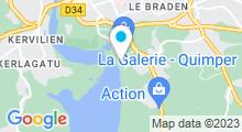 Plan Carte Piscine de loisirs Aquarive à Quimper