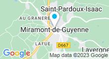 Plan Carte Piscine à Miramont de Guyenne