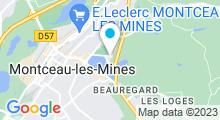 Plan Carte Centre nautique - Piscine de Montceau-les-Mines