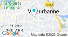 Plan Carte Piscine Gratte Ciel à Villeurbanne