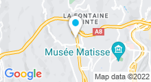 Plan Carte Piscine Comte de Falicon à Nice