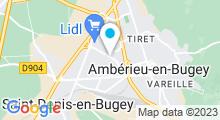 Plan Carte Centre nautique Laure Manaudou - Piscine à Amberieu en Bugey