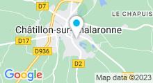 Plan Carte Piscine Aquadombes à Chatillon sur Chalaronne