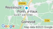 Plan Carte Piscine Archipel à Pont de Vaux