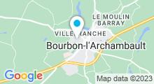 Plan Carte Piscine du parc Bignon à Bourbon l'Archambault