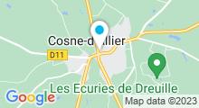 Plan Carte Piscine à Cosne d'Allier