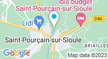 Plan Carte Piscine de la Moutte à Saint Pourçain sur Sioule