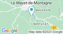 Plan Carte Piscine à Le Mayet de Montagne