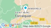 Plan Carte Piscine de Forcalquier