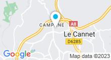 Plan Carte Piscine des Campelières à Mougins