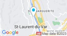 Plan Carte Piscine à Saint Laurent du Var
