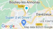 Plan Carte Piscine de Vaure à Annonay