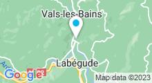 Plan Carte Piscine à Vals les Bains