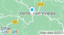 Plan Carte Piscine à Vernoux en Vivarais