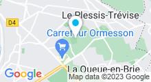 Plan Carte Piscine des Bordes à Chennevières-sur-Marne