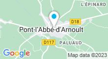 Plan Carte Piscine à Pont l'Abbé d'Arnoult