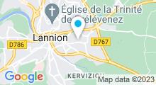 Plan Carte Espace aqualudique Ti Dour - Piscine à Lannion