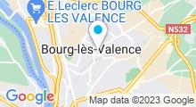 Plan Carte Piscine à Bourg les Valence