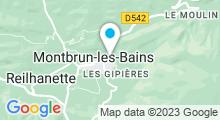 Plan Carte Piscine à Montbrun les Bains