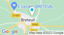 Plan Carte Centre aquatique Philippe Loisel - Piscine à Breteuil