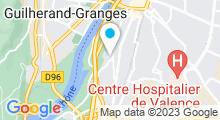 Plan Carte Piscine plein ciel à Valence