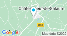 Plan Carte Piscine des collines à Chateauneuf de Galaure