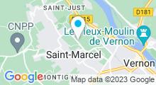 Plan Carte Espace nautique de la Grande Garenne - Piscine à Saint Marcel