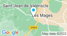 Plan Carte Piscine Pomier à Saint Jean de Valeriscle