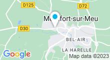 Plan Carte Espace Océlia - Piscine à Montfort sur Meu