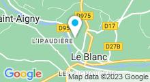 Plan Carte Piscine des Ménigouttes à Le Blanc