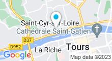 Plan Carte Piscine Ernest Watel à Saint Cyr sur Loire