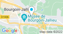 Plan Carte Piscine Pierre Rajon à Bourgoin Jallieu