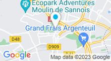 Plan Carte Centre aquatique Youri Gagarine - Piscine à Argenteuil