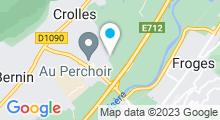Plan Carte Centre nautique de la Cosi - Piscine à Crolles